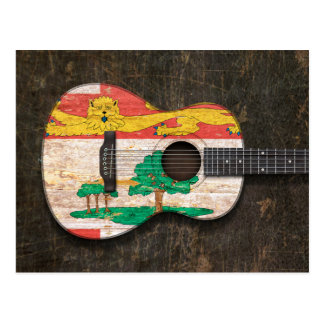 Guitarra acústica rasguñada de Isla del Principe Postal