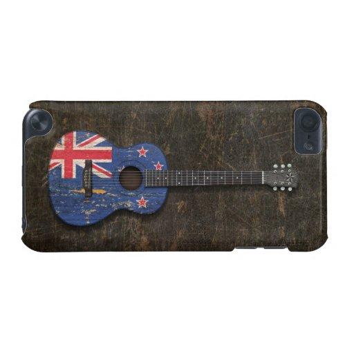 Guitarra acústica rasguñada de la bandera de Nueva Funda Para iPod Touch 5G