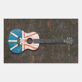 Guitarra acústica rasguñada de la bandera de Terra