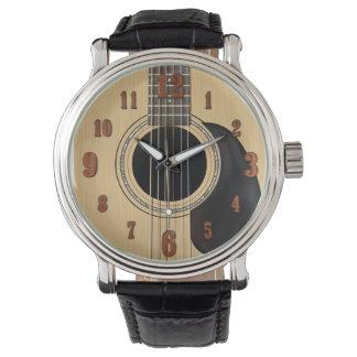 Guitarra acústica relojes de pulsera