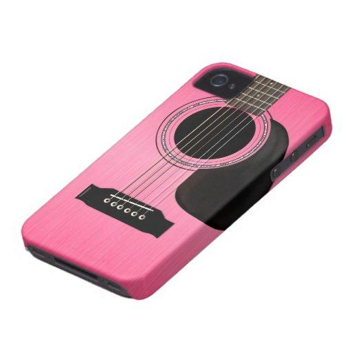 Guitarra acústica rosada Case-Mate iPhone 4 funda