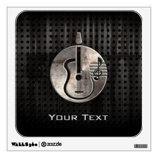 Guitarra acústica rugosa