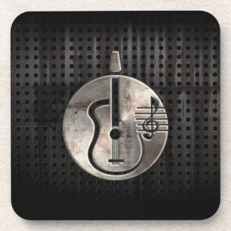 Guitarra acústica rugosa posavaso