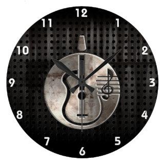 Guitarra acústica rugosa relojes