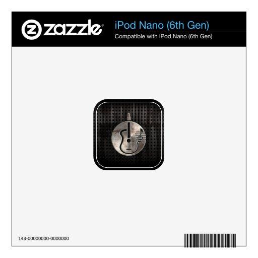 Guitarra acústica rugosa calcomanía para iPod nano 6G