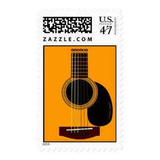 guitarra acústica sello postal