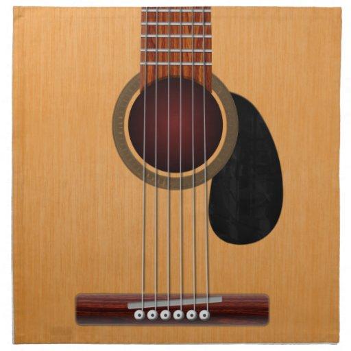 Guitarra acústica servilletas de papel