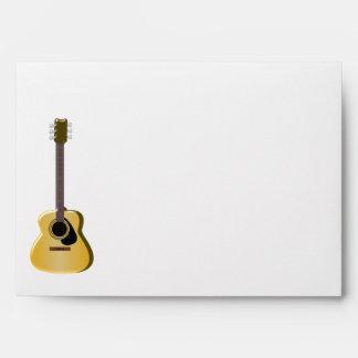 Guitarra acústica sobre