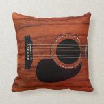 Guitarra acústica superior de caoba cojines