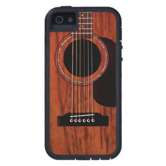Guitarra acústica superior de caoba iPhone 5 funda