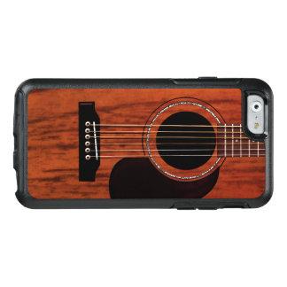 Guitarra acústica superior de caoba funda otterbox para iPhone 6/6s