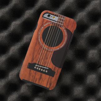Guitarra acústica superior de caoba funda para iPhone 6 tough