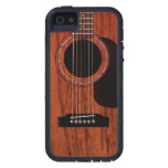 Guitarra acústica superior de caoba funda para iPhone SE/5/5s