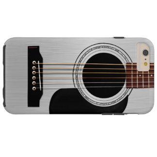 Guitarra acústica superior de plata funda de iPhone 6 plus tough