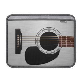 Guitarra acústica superior de plata funda macbook air