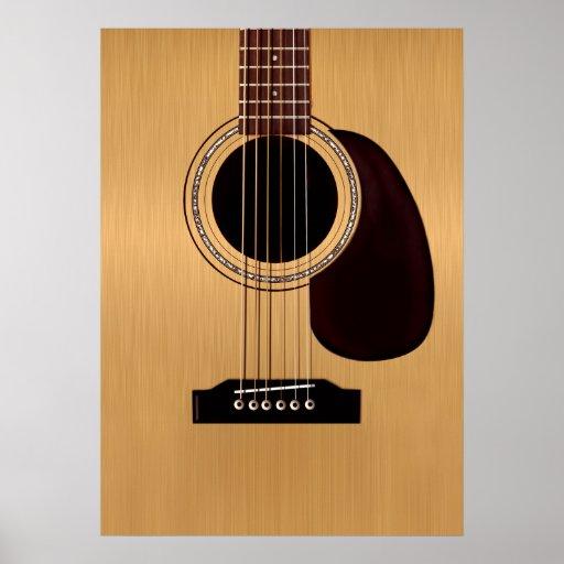 Guitarra acústica superior Spruce Póster