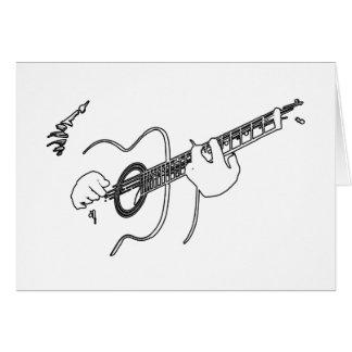 guitarra acústica tarjeta de felicitación