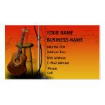 Guitarra acústica - tarjeta de la industria musica plantillas de tarjeta de negocio