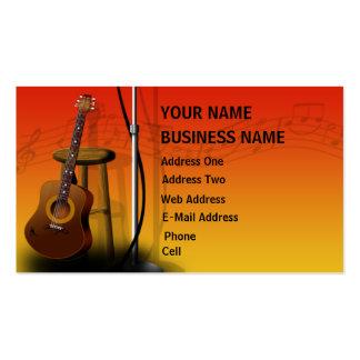Guitarra acústica - tarjeta de la industria musica tarjetas de visita