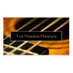 Guitarra acústica tarjeta de visita