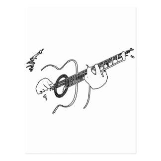 guitarra acústica tarjeta postal