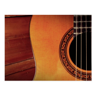 Guitarra acústica tarjetas postales