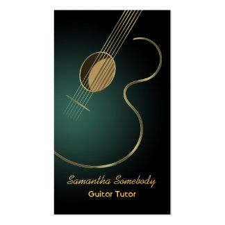 Guitarra acústica tarjetas de visita