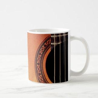 Guitarra acústica tazas de café