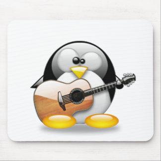 Guitarra acústica Tux (Linux Tux) Alfombrillas De Ratón