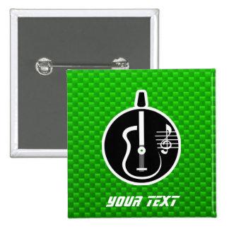 Guitarra acústica verde pin