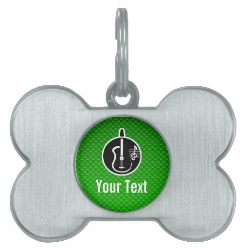 Guitarra acústica verde placas mascota