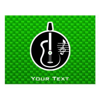 Guitarra acústica verde postal