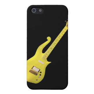 Guitarra amarilla de la nube diseñada por el artis iPhone 5 carcasa