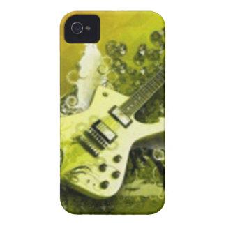 Guitarra amarilla iPhone 4 Case-Mate protectores