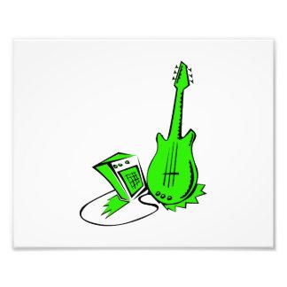 guitarra amperio green.png estilizado impresion fotografica