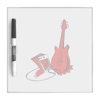 guitarra amperio red.png estilizado pizarras blancas de calidad