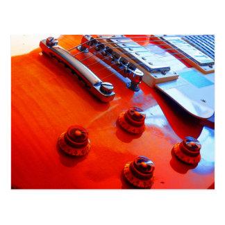 Guitarra anaranjada tarjetas postales