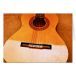Guitarra anaranjada tarjeton