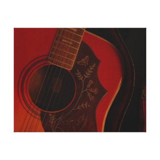 Guitarra antigua lienzo envuelto para galerias