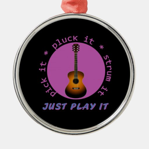 Guitarra - apenas juegúela - fondo negro ornamentos para reyes magos