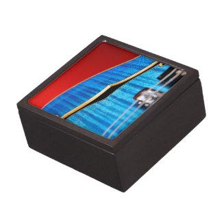 Guitarra azul cajas de recuerdo de calidad