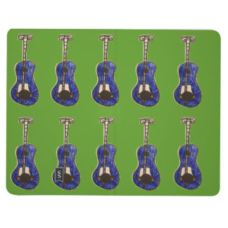 guitarra azul cuaderno grapado