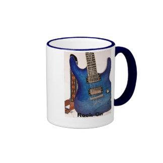 Guitarra azul eléctrica taza de dos colores