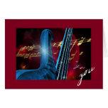 Guitarra azul felicitación
