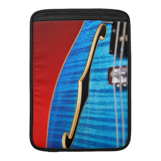 Guitarra azul funda  MacBook