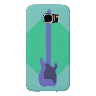 Guitarra azul funda samsung galaxy s6