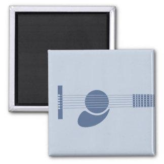 Guitarra azul imán de frigorifico
