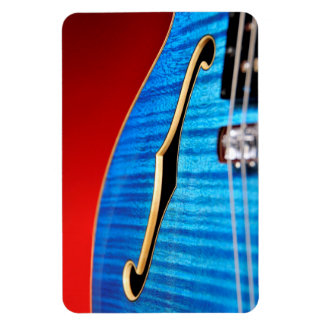 Guitarra azul imanes de vinilo