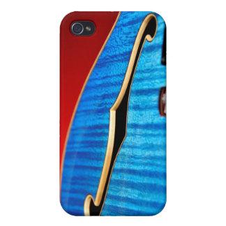 Guitarra azul iPhone 4 carcasas