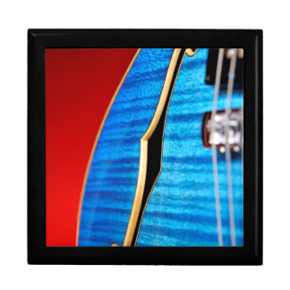 Guitarra azul cajas de recuerdo